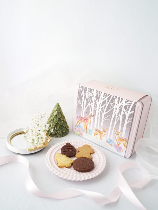 A selection of assorted handmade Christmas cookies are specially curated to celebrate the yuletide season