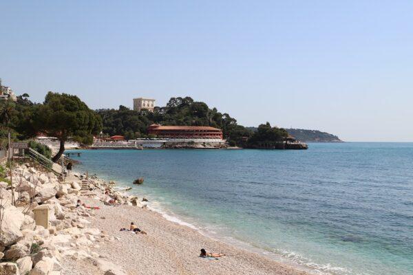 Beach in Monte Carlo Monaco