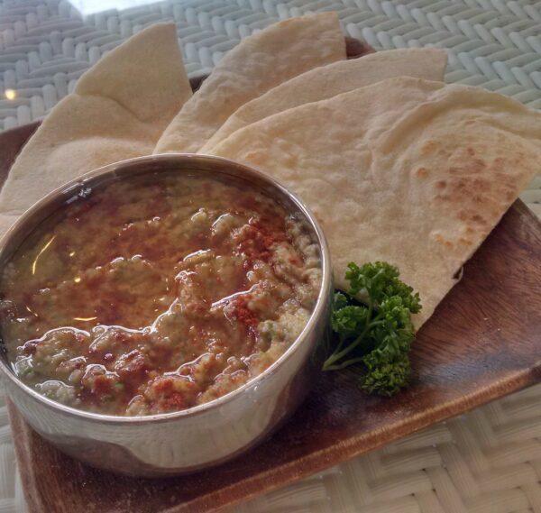 Delectable Babaganoush with Naan - Masala Moe's