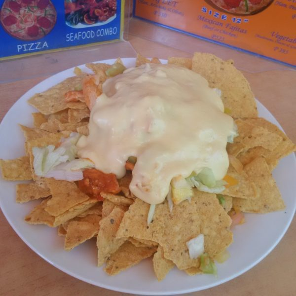 Scumptious Nachos ready to be gobbled up
