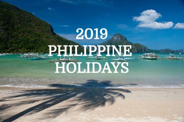 Philippine Holidays 2019