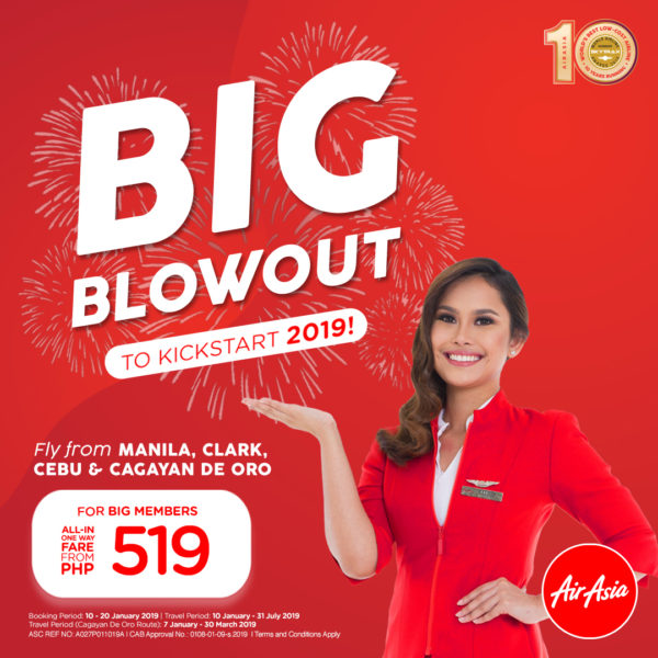 1.9 Million Promo Seats Up For Grabs from AirAsia Philippines