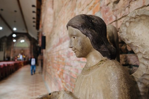 Angel Statue inside the Church of Tumauini