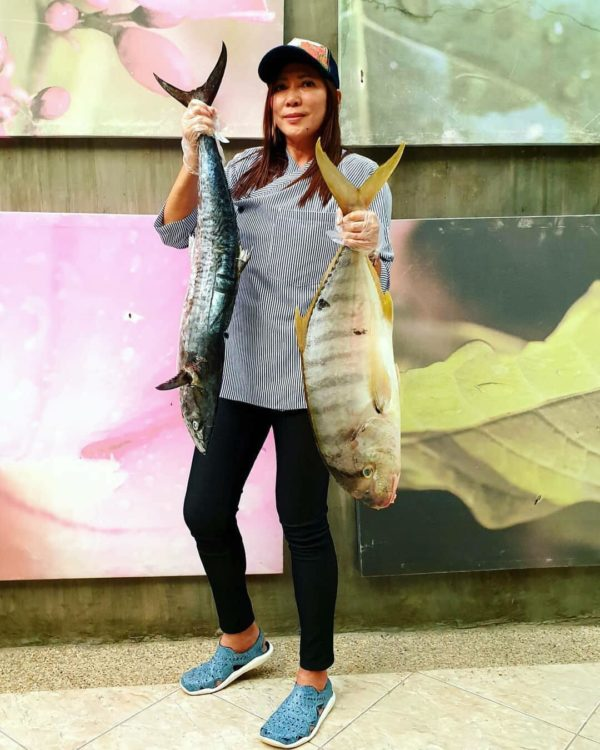 Chef Maria and her daily supply of fresh catch