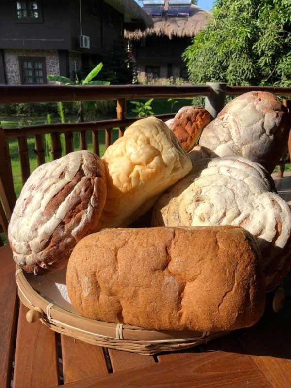 Freshly baked breads from the Kitchen