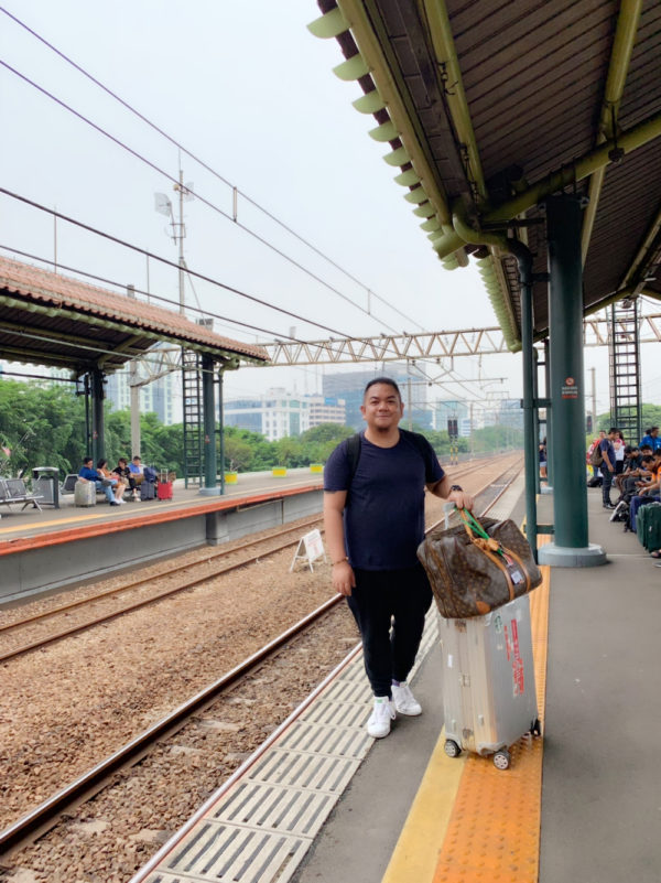 Melo at Gambir Station in Jakarta