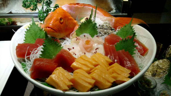 Sashimi platters will be readily available at the buffet bar, while buffet choices will be prepared as ordered