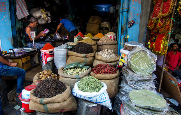 Spices on sale at the Bikaner market
