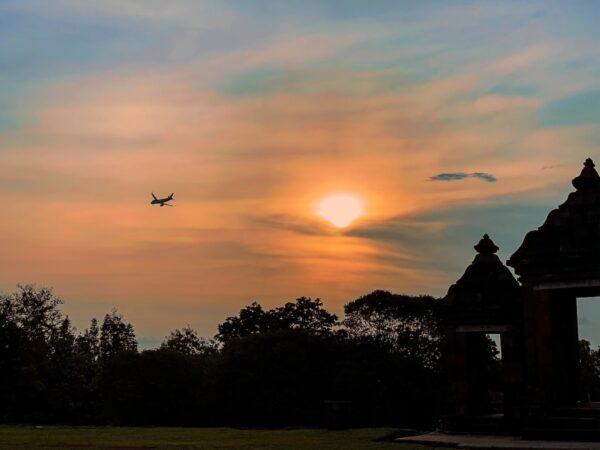 Sunset at Ratu Boko Yogyakarta