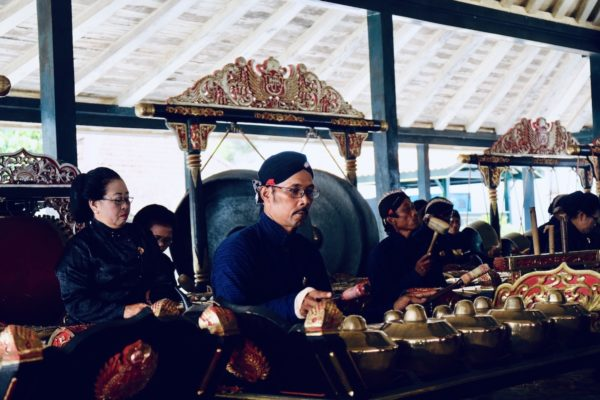 Gamelan performance in Kraton of Yogyakarta
