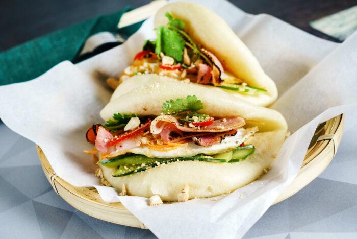 Gua Bao Taiwan Street Food photo via Depositphotos