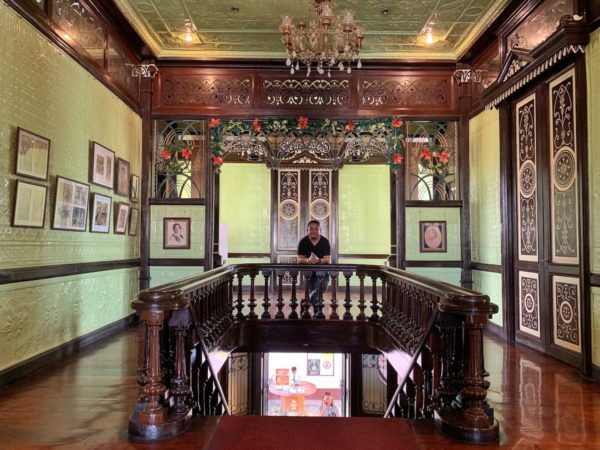 Melo inside Pamintuan Mansion