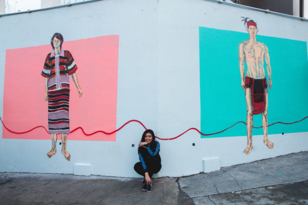 The Artist and her artwork photo by Krizza Mae Pacleb