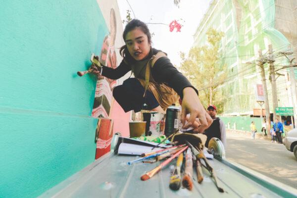 Vena Martinez at Work photo by Krizza Mae Pacleb