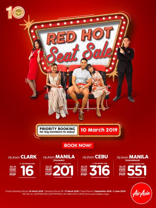 AirAsia 2019 Red Hot Seat Sale