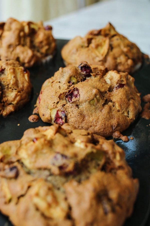 Apple Walnut and Cranberry Muffin