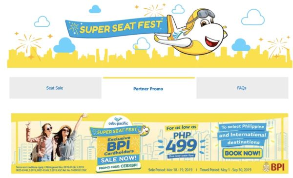 Cebu Pacific and BPI offers exclusive seat sale