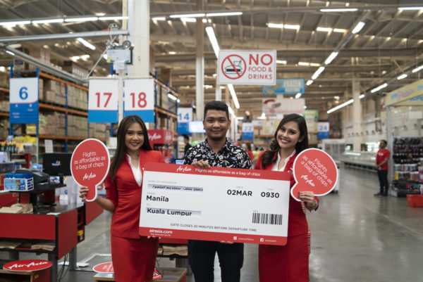 Mendrin John Garcia Caingat was able to buy a roundtrip ticket to Kuala Lumpur for P60 at Super8 Grocery Warehouse