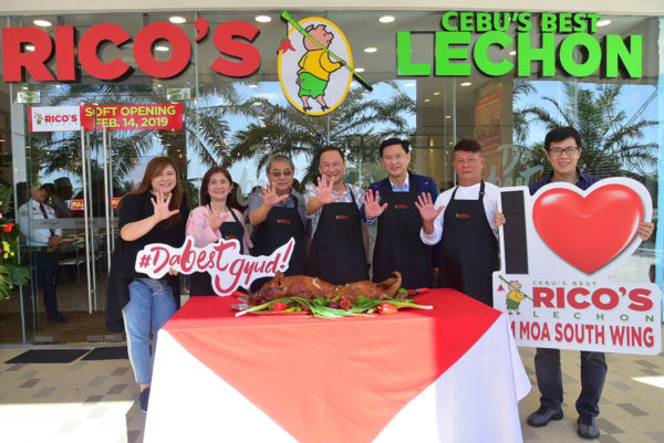 Meat Concepts Corporation's Marie-jo Barles, Cong. Imelda Calixto-Rubiano, Pasay City Mayor Antonino Calixto, Meat Concepts Corporation President George Pua, SM Supermalls Chief Operating Officer Steven Tan, Rico's Lechon Founder Rico Dionson, and Meat Concepts Corporation Vice President Jay Lazaro