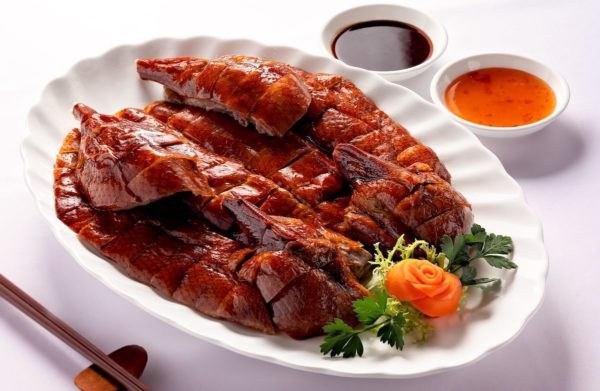 Roasted Goose with Plum Sauce