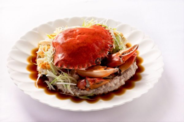 Steamed Whole Crab with Pork Patty