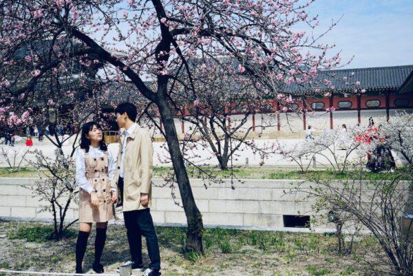 Local Tourists inside Gyeongbokgung Palace