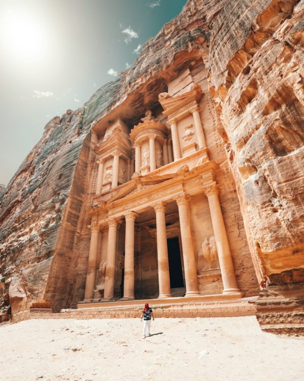 Petra in Jordan photo by Spencer Davis via Unsplash