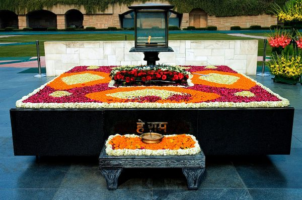 Raj Ghat Memorial via Wikipedia CC
