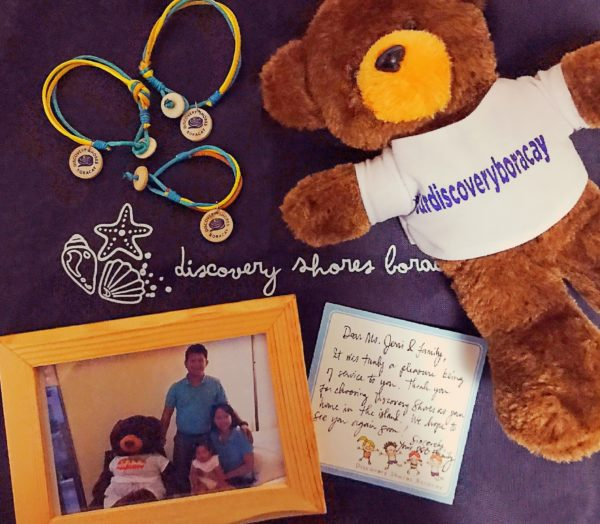 Thoughtful gifts from Discovery Shores Boracay for our family of 3