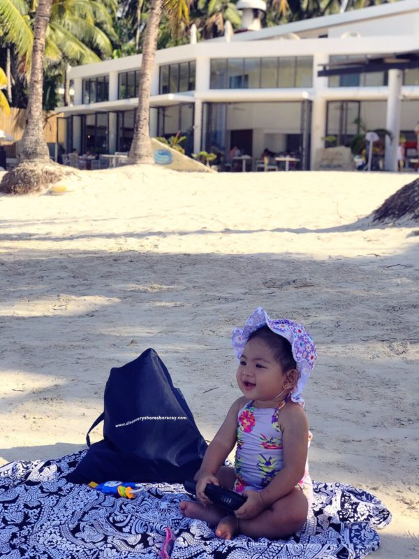 Our 8-month-old baby Mishka happily lounging by the beachfront of Discovery Shores Boracay. Photo by Matthew Gomez