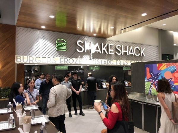 Guests at the exclusive pre-opening food tasting at Shake Shack in Central Square, BGC.
