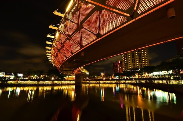 Kaohsiung Lover River at Night