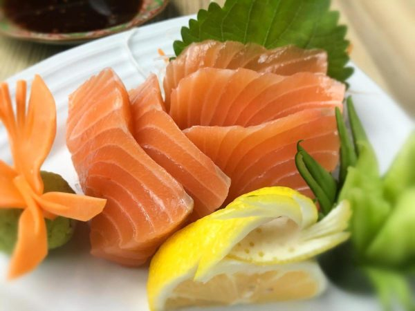 Salmon sashimi (Php 538 inclusive of vat ) is a staple in every Japanese cuisine.