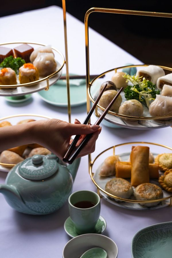 An exquisite Chiu Chow Dim Sum Platter is also ideally styled for just two