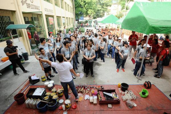 Starbucks Volunteer Activity Renovate to Educate