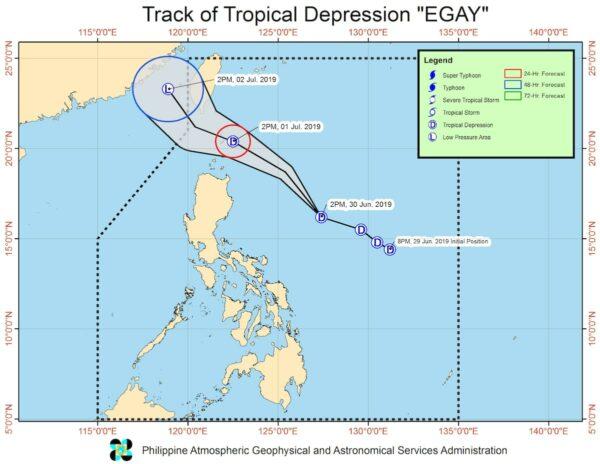 Tropical Depression Egay