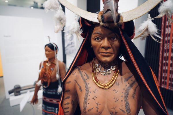Replica of Kalinga People inside Museo Kordilyera
