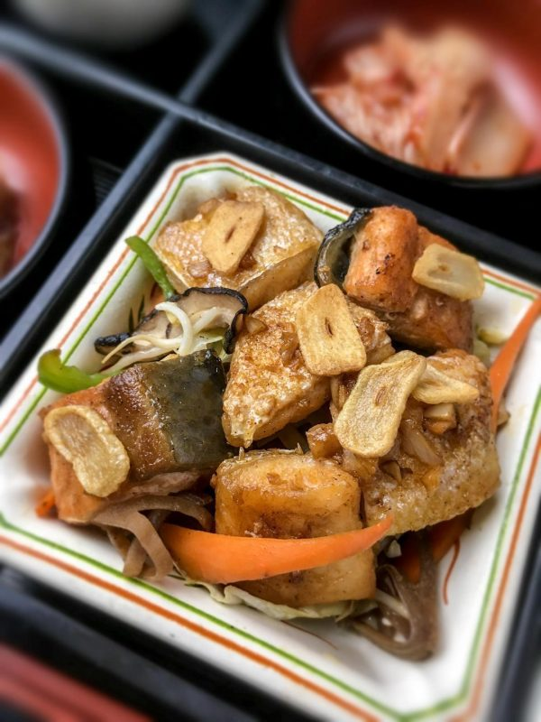 Salmon teppan is the deluxe matsu choice for fish lovers.