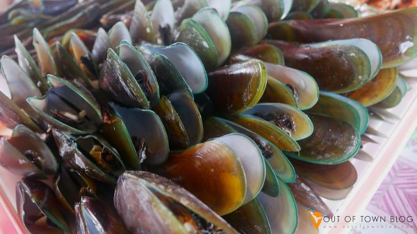 mussels and seafood in San Vicente