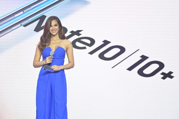 Catriona Gray unveils the new Samsung Galaxy Note series