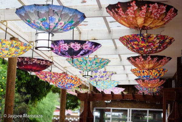 How cute are those colorful hanging upside down umbrellas? © Jaypee Maristaza