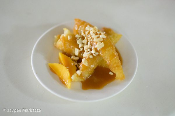 And the mega yummy suman with mango and caramel twist! We ate this after our foot reflex! Totally needed! © Jaypee Maristaza
