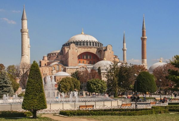 The Aya Sofya which was first a church then a mosque and now a museum.