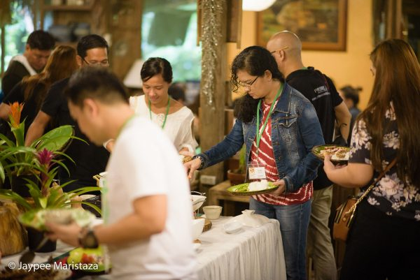 Yey! Feast time! We're all so excited for the prepared lunch buffet at Loli's Kitchen! © Jaypee Maristaza