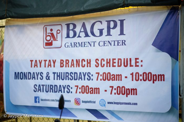 Bagpi Garment Center photo by Jaypee Maristaza