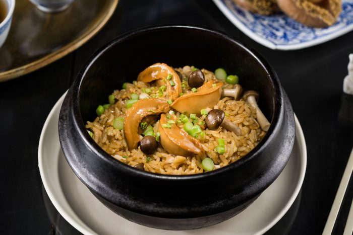 Braised Abalone Fried Rice with Wild Mushroom