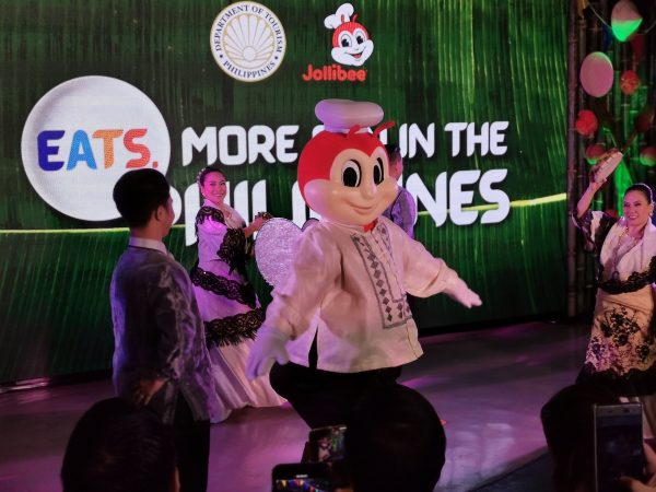 Jollibee dancing in Barong Tagalog