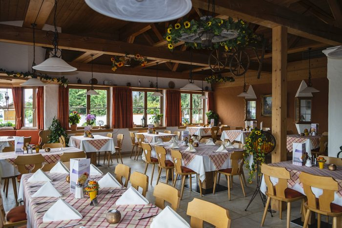 The Bavarian restaurant where we were the only guests for lunch.