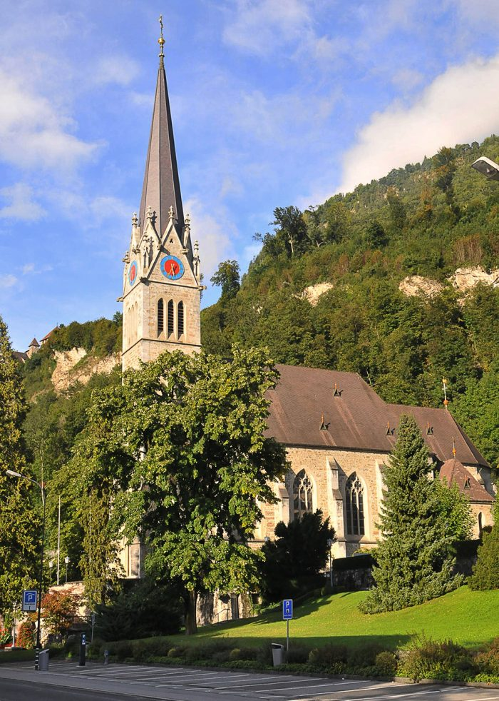 The Catholic Church of St. Florin in Vaduz.