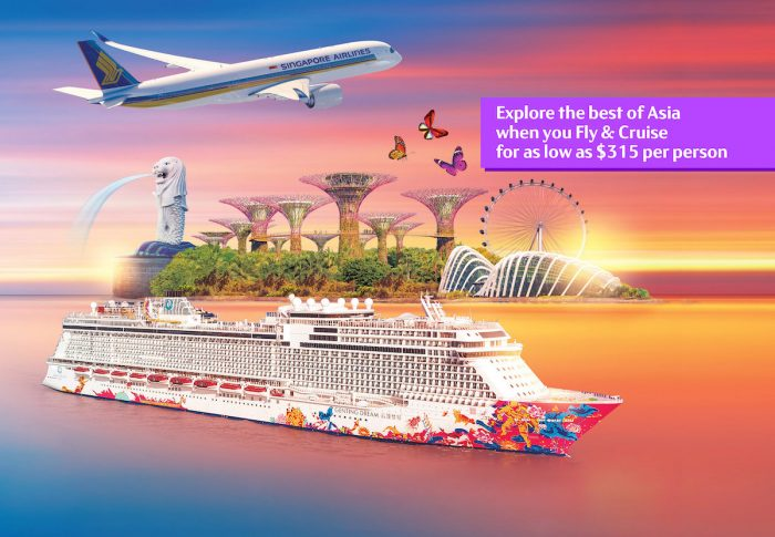 Genting Dream and Singapore Airlines Fly and Cruise Deals